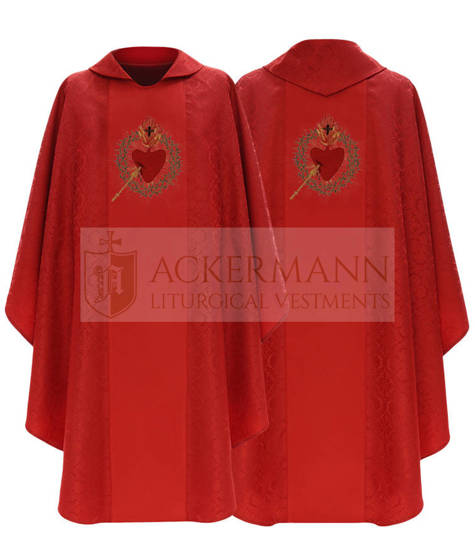 Gothic Chasuble Sacred Heart of Jesus model 800