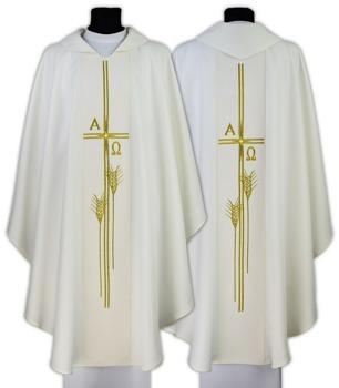 """Gothic Chasuble """"Alfa & Omega"""" model 678"""