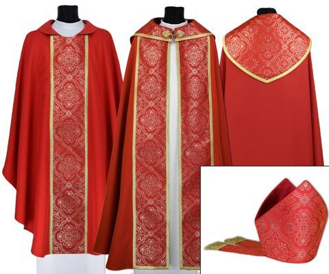 Gothic Cope with mitre & chasuble