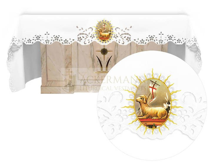 Altar cloth - Openwork with an Easter theme 740