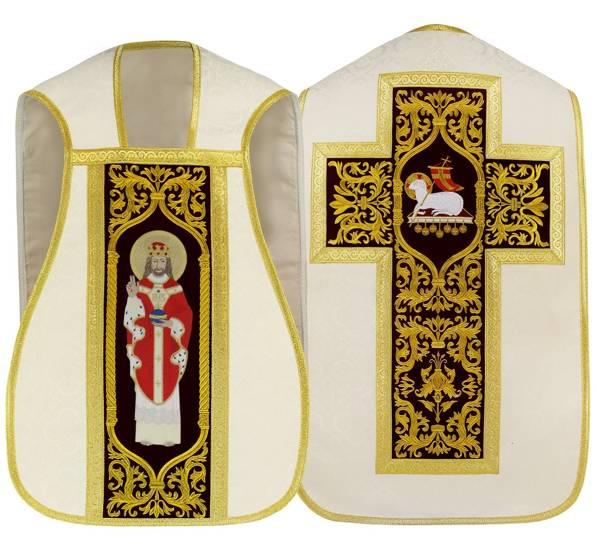 Cream Roman Chasuble Christ the King model 467