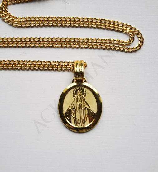 Gold-plated Medallion Our Lady Immaculate