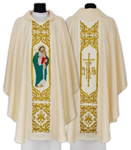 Gothic Chasuble Saint Joseph husband of Mary model 658