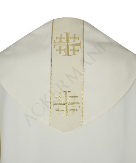 Gothic Cope with matching mitre Jerusalem Crosses model 103