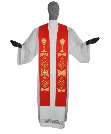 Gothic Stole Chalice and Host