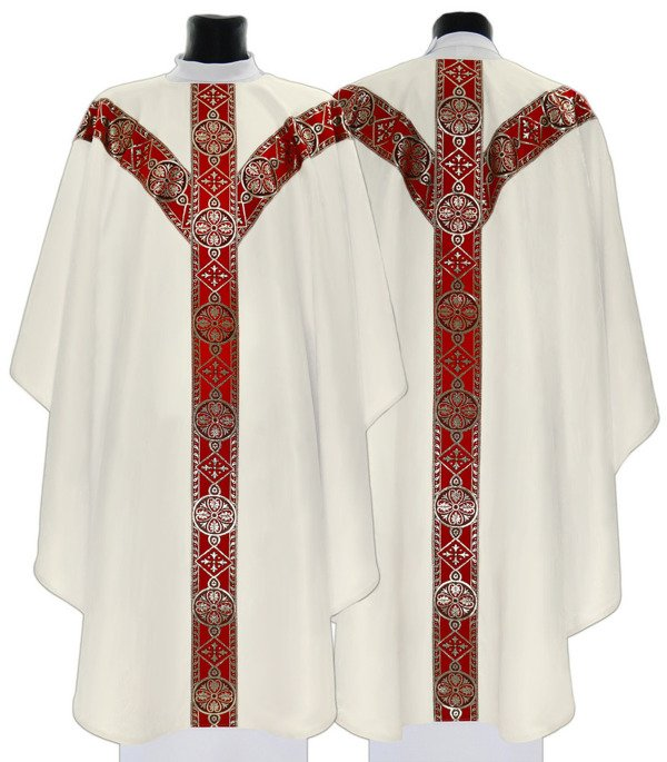 Semi Gothic Chasuble model 201