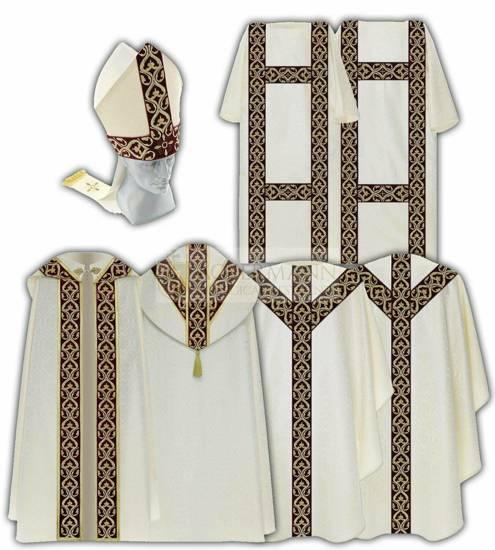 Set of Semi Gothic vestments model 813