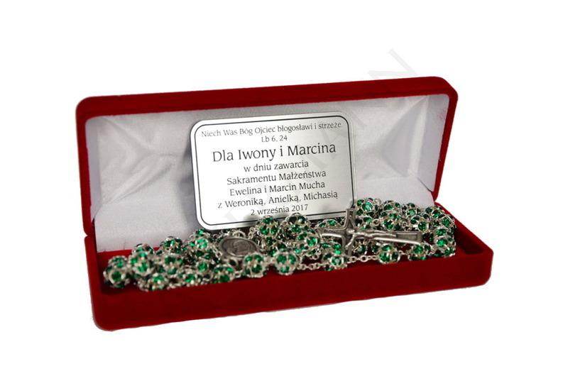 Swarovski Crystal Rosary green