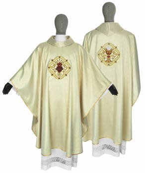 Gold Gothic Chasuble Sacred Heart of Jesus model 118