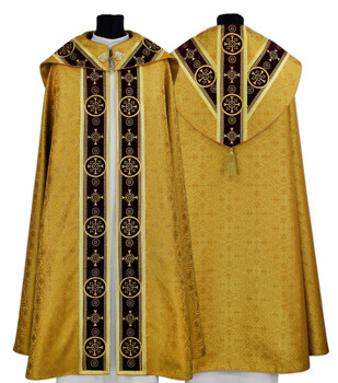 Gold Semi Gothic Cope model 579