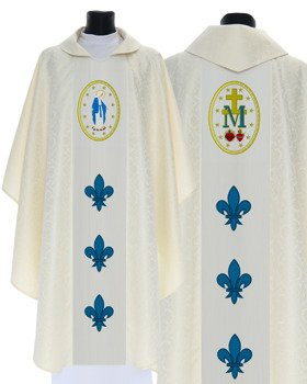 Marian Gothic Chasuble Our Lady of Grace model 426