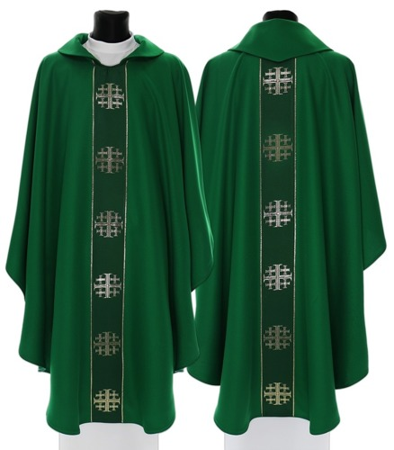 Gothic Chasuble Jerusalem crosses model 103