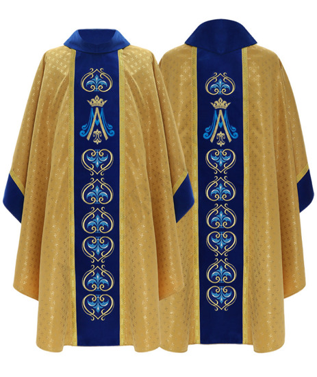 Marian Gothic Chasuble model 766