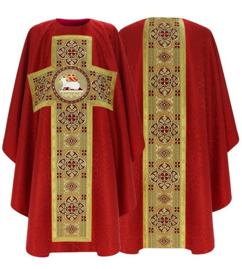 Rose Gothic Chasuble Lamb model 794