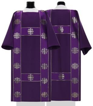 Semi Gothic Dalmatic Jerusalem Crosses model 103